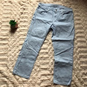 Michael Kors Light Blue Capri Jeans Size 6